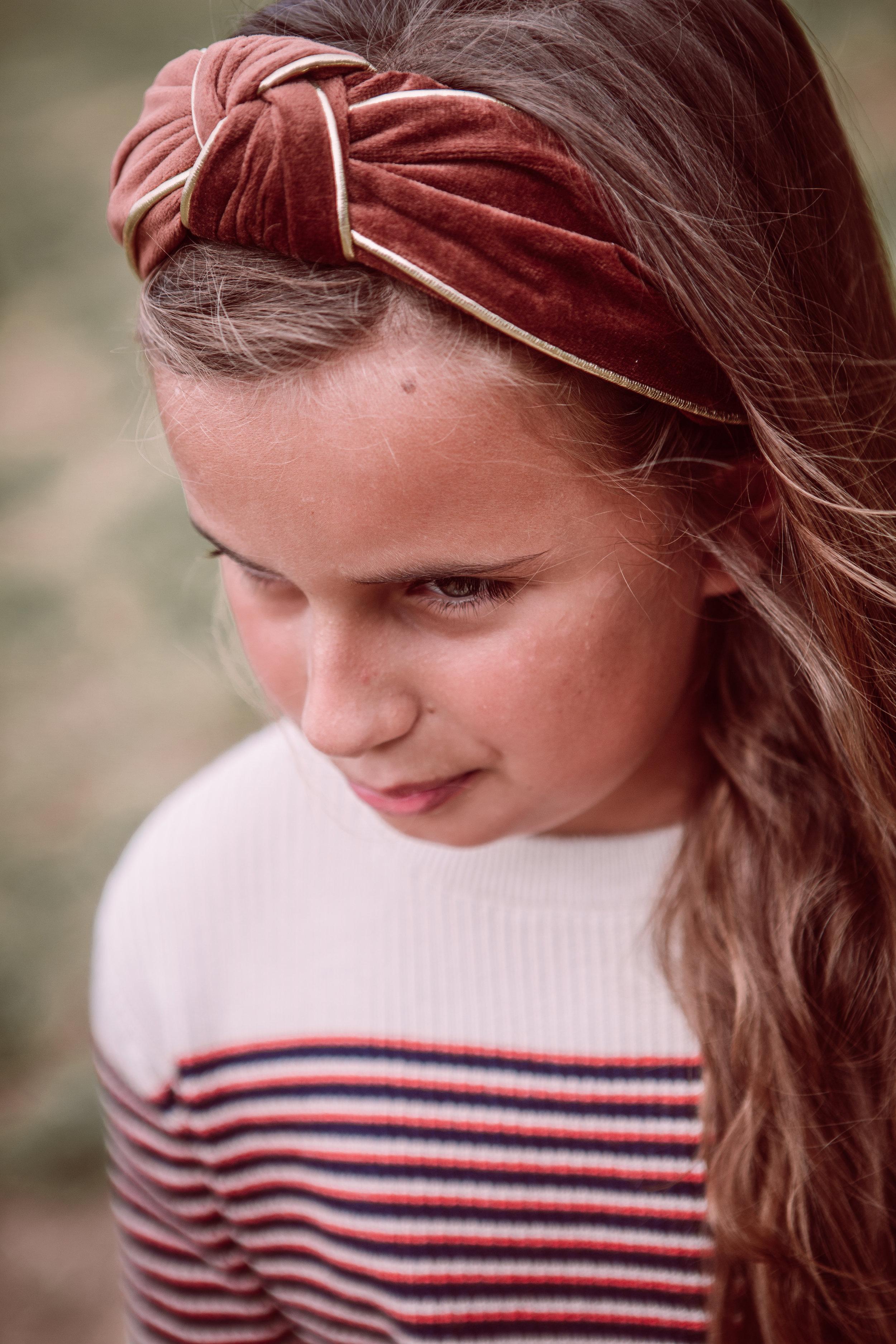 Odette velvet headband -  sweater Repose AMS
