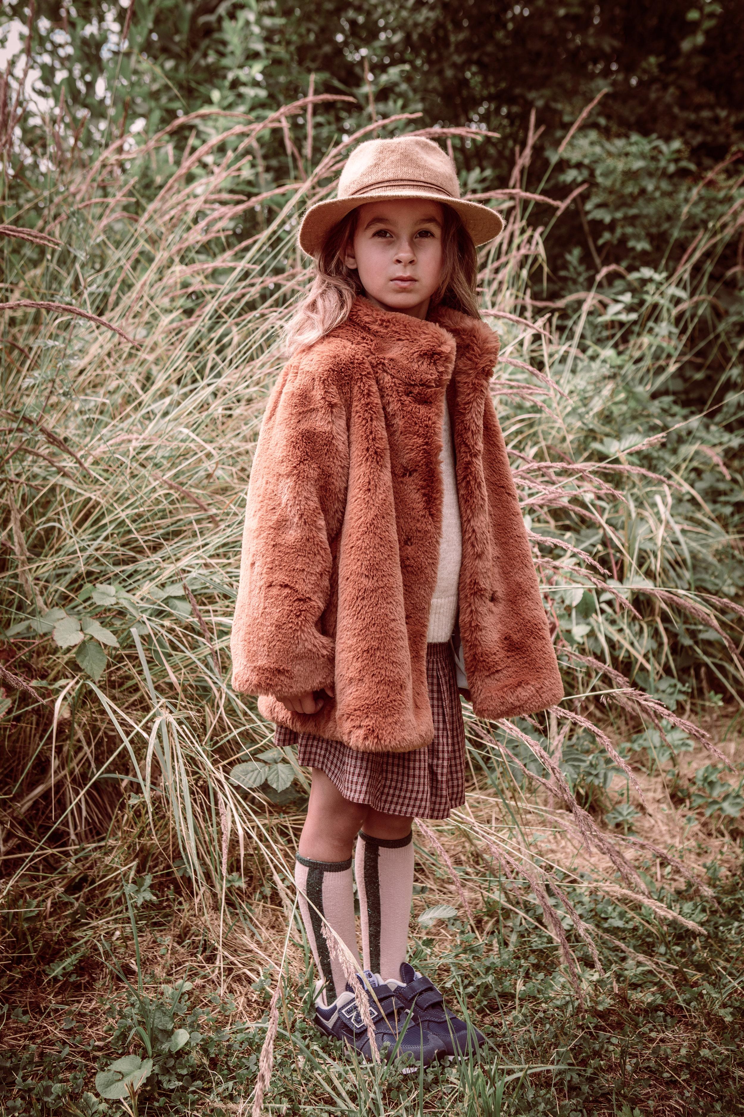 Indy hat - coat  Bellerose  -  skirt Bellerose  -  shoes Vollebergh