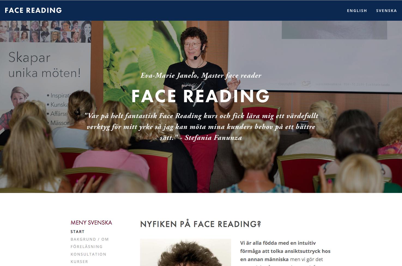 Face Reading Eva-Marie Janelo - Stockholm och Eskilstuna