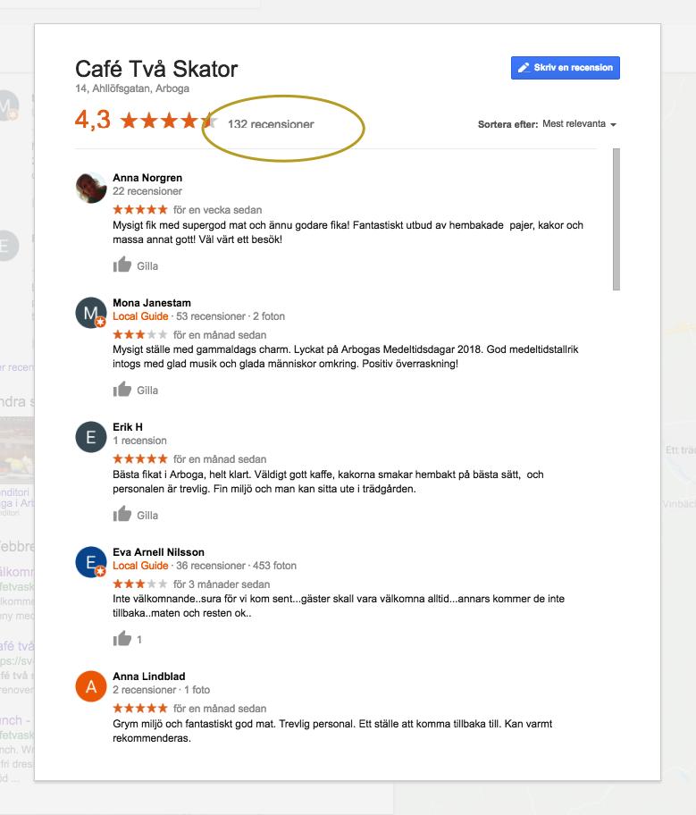Lista med recensioner