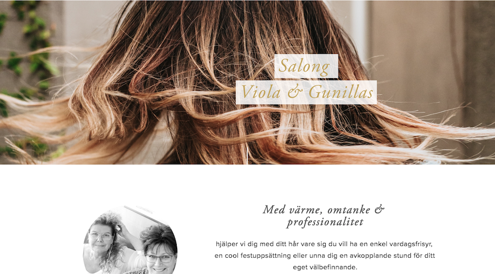 Viola & Gunillas hårsalong i Arboga.