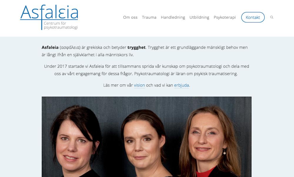 Asfaleia - Centrum för Psykotraumatologi, Stockholm.