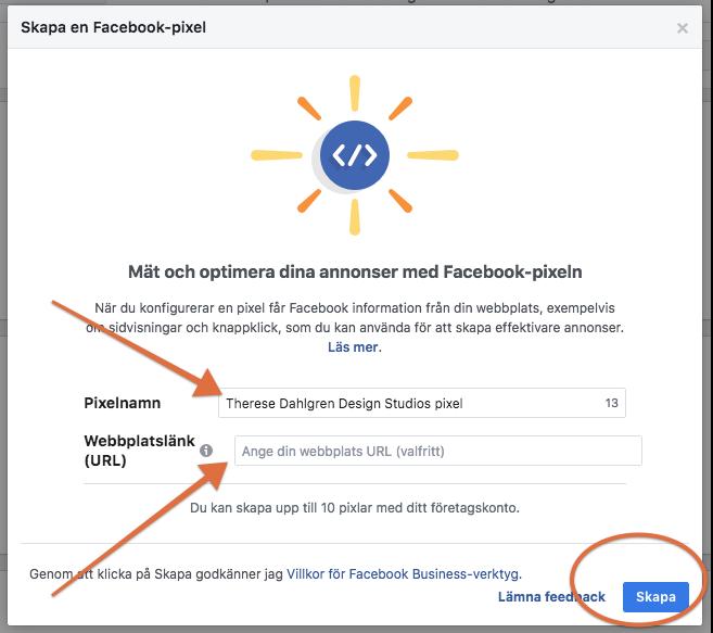 Skapa en Facebook Pixel