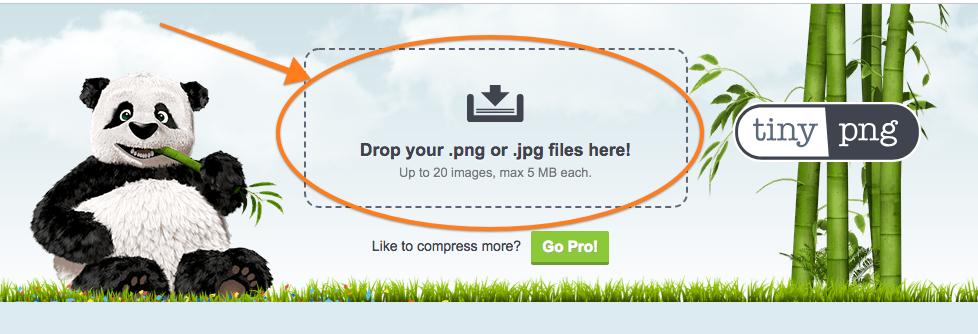 Klicka och öppna eller dra in den filen i Tiny PNG.