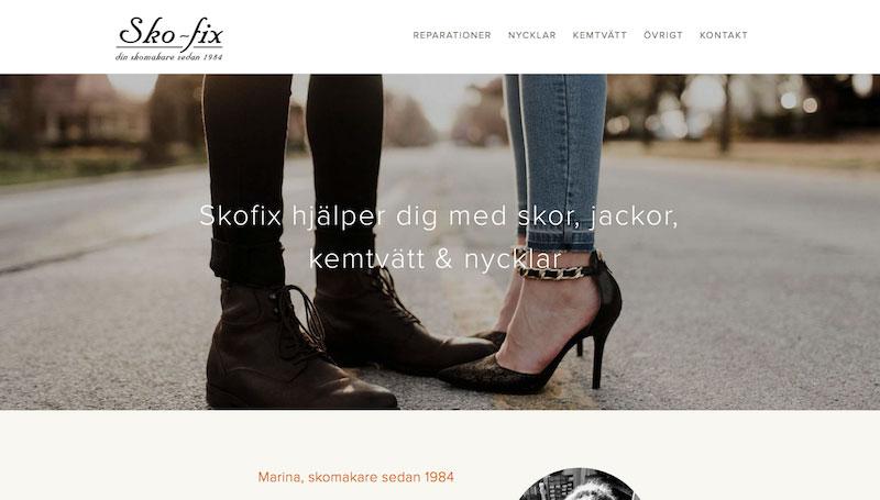 Arboga Sko-fix. Marina har haft skomakeri i Arboga sedan 1984.