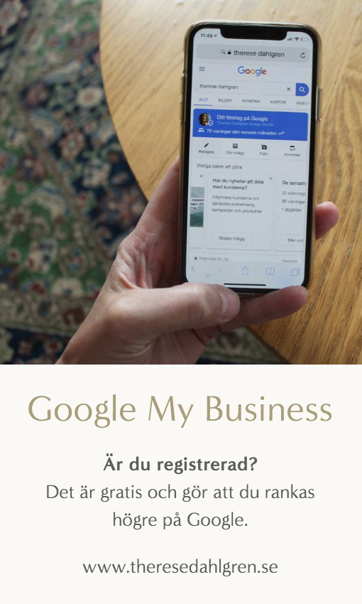 Google My Business. Pinna gärna.