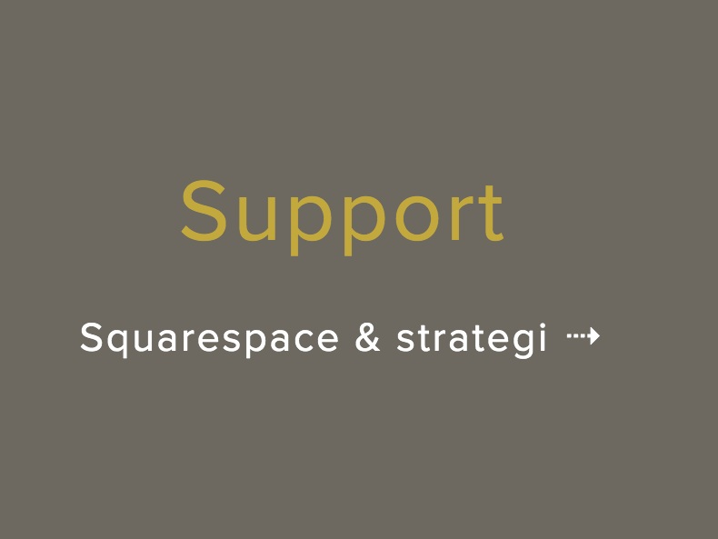 support squarespace strategi