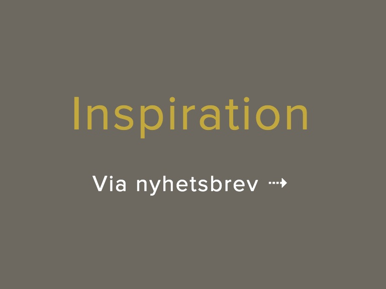 Inspiration Nyhetsbrev