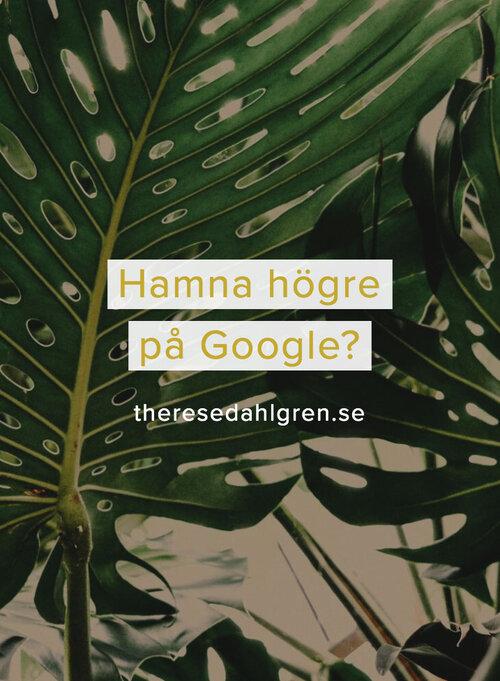 Pinna gärna Hamna högre på Google?