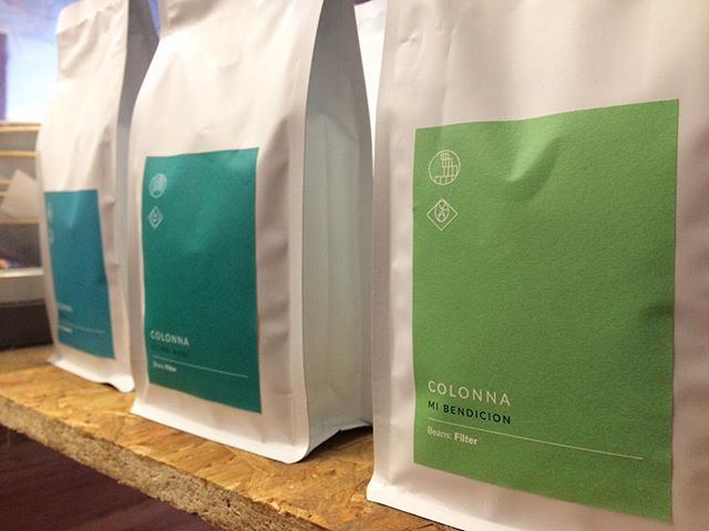 We currently have @colonnacoffee on the brew bar and retail stand #yummy