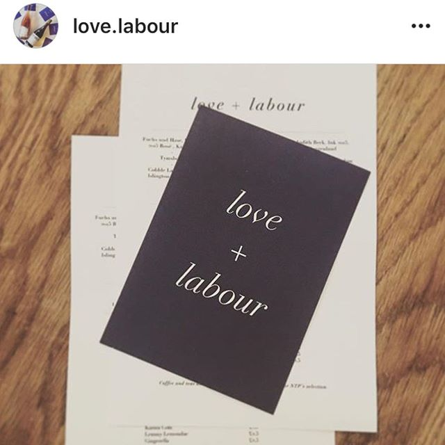 Love + Labour pop-up is happening this evening at NTP from 7:30pm. This is gonna be a weekly thing. If you haven't got a ticket swing by and see if there's any room for you. Natural wine, fine charcuterie and cheese. We know you guys would love a neighbourhood restaurant serving delicious stuff and natural wines so please support them!