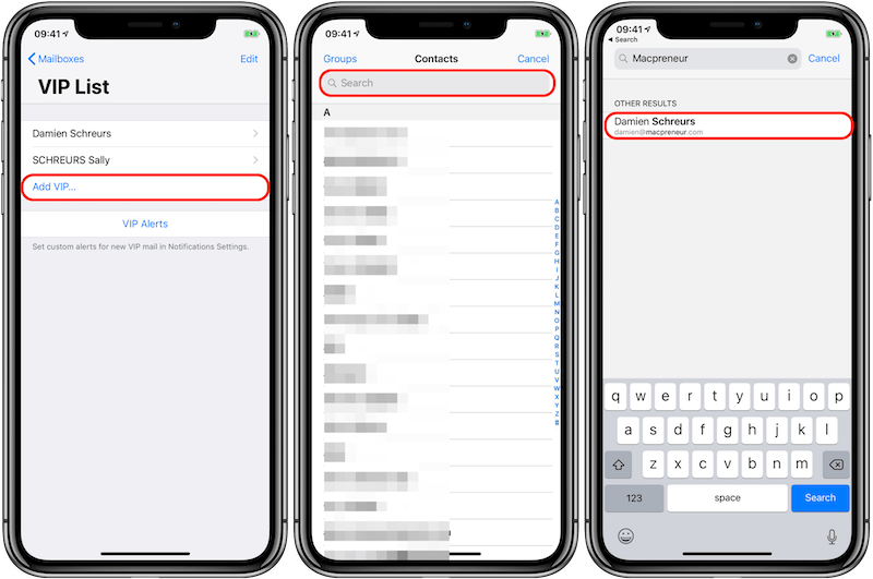 MP10 - iOS 12 iPhone X - Add VIP from the VIP mailbox Annotated 800px.png