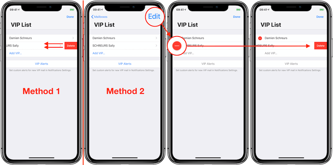MP10 - iOS 12 iPhone X - Remove VIP from the VIP mailbox Annotated 1066px.png