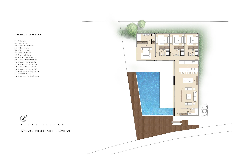 Khoury Residence Cyprus plan