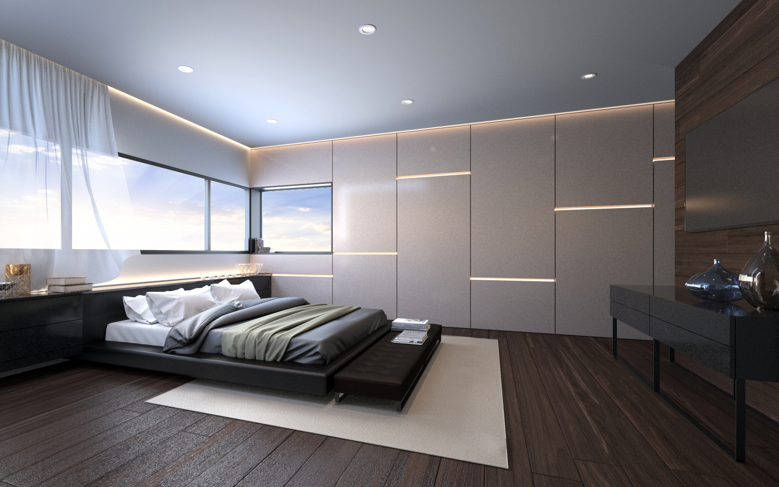 Bedroom Penthouse Interior