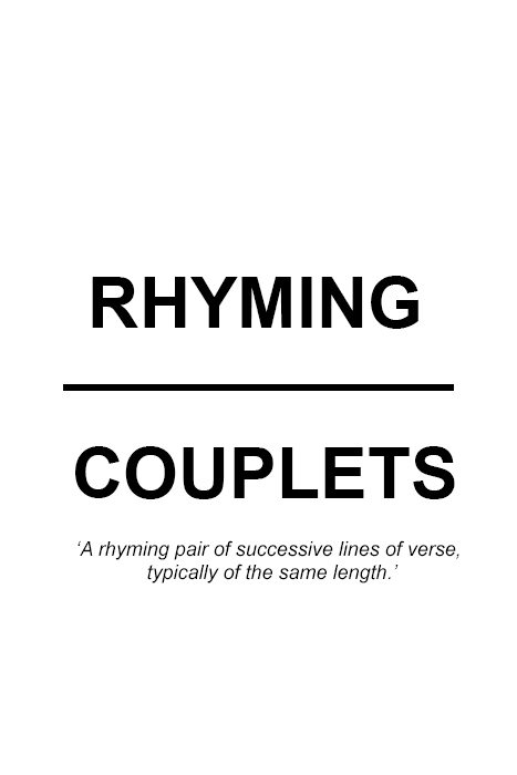 Rhyming Couplets by Alistair Redding