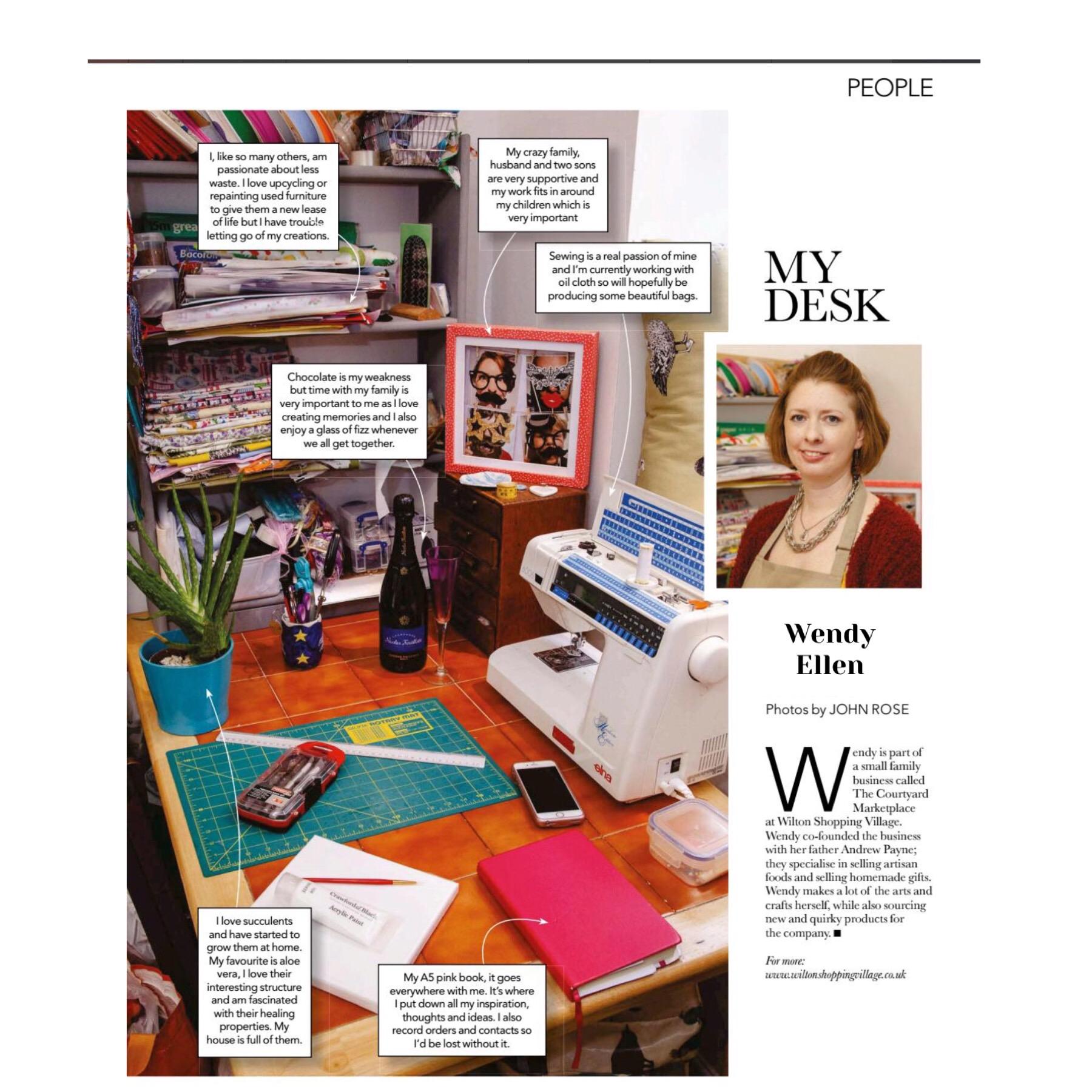 Our Wendy making Salisbury Life magazine