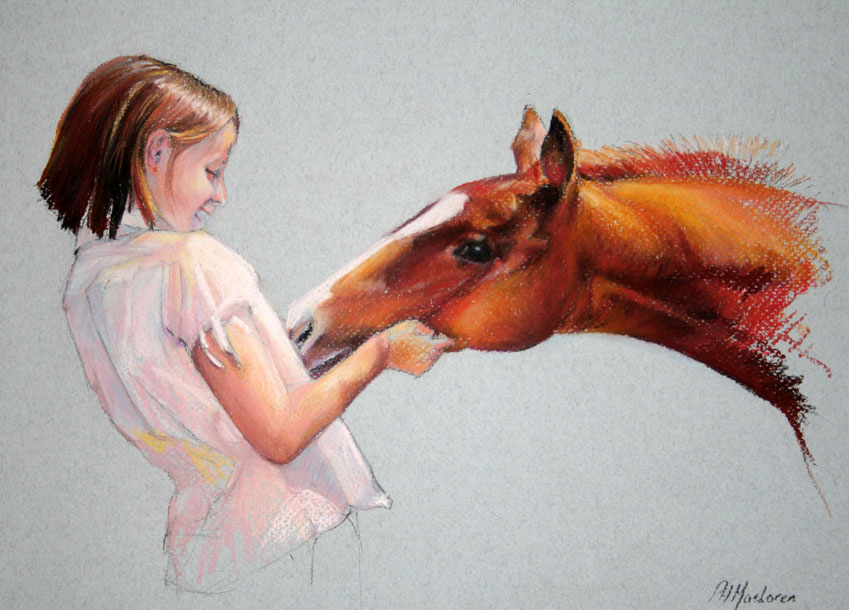 'Liana and Harry'. Pastel. Private collection. 43 x 49cm.