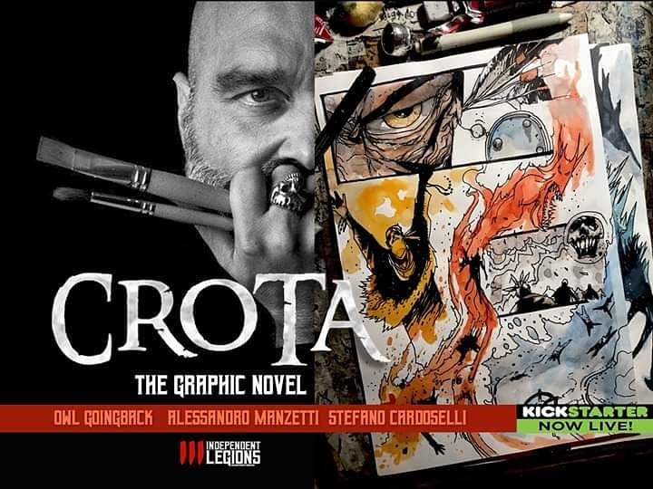 Discover 'CROTA - The Graphic Novel' Written by Owl Goingback and Alessandro Manzetti, Illustrated by Stefano Cardoselli for Independent Legions  Kickstarter Campaign   Indipendent Legions:  www.independentlegions.com