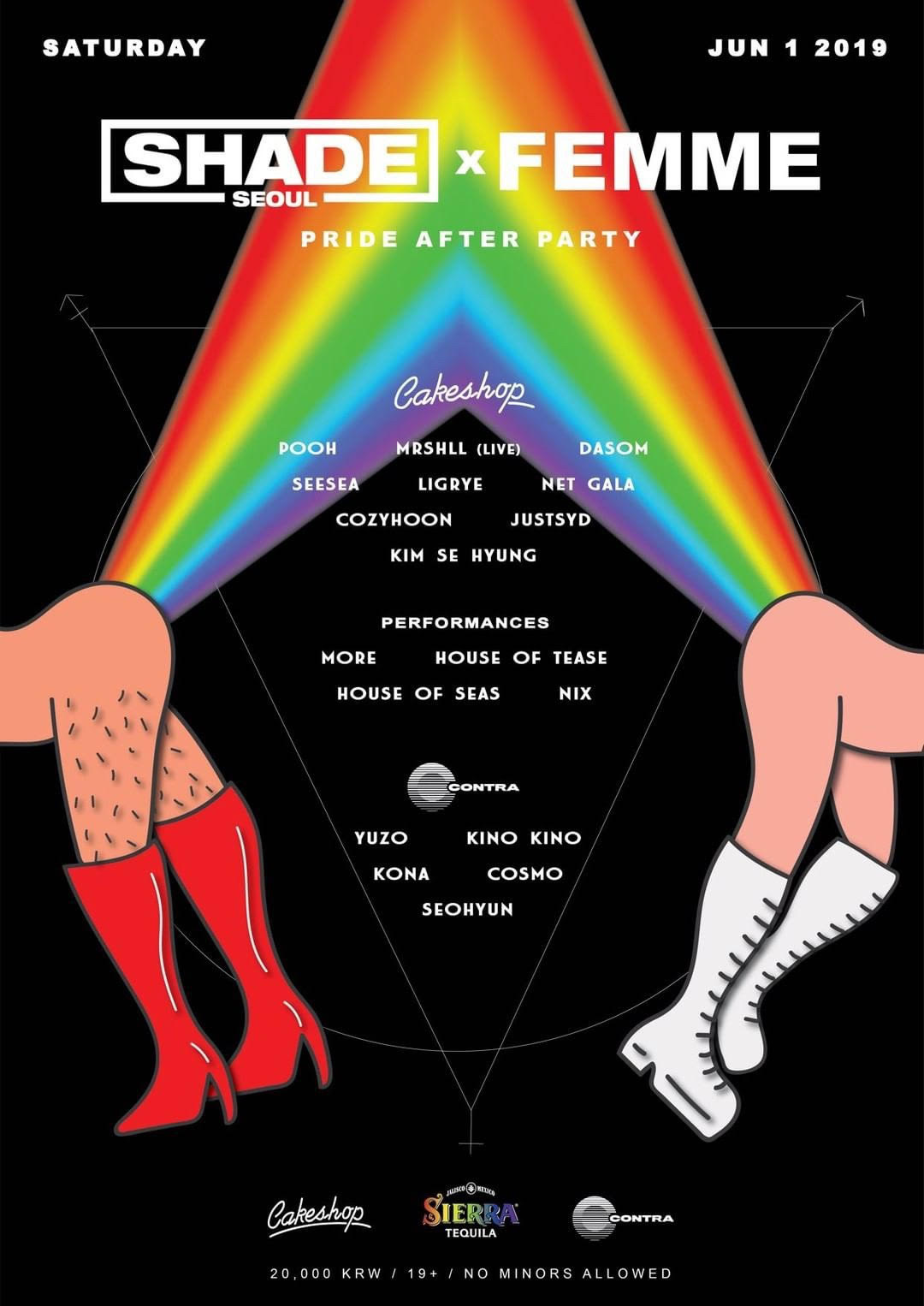 SHADE x FEMME - The Official Pride After Party for Seoul!