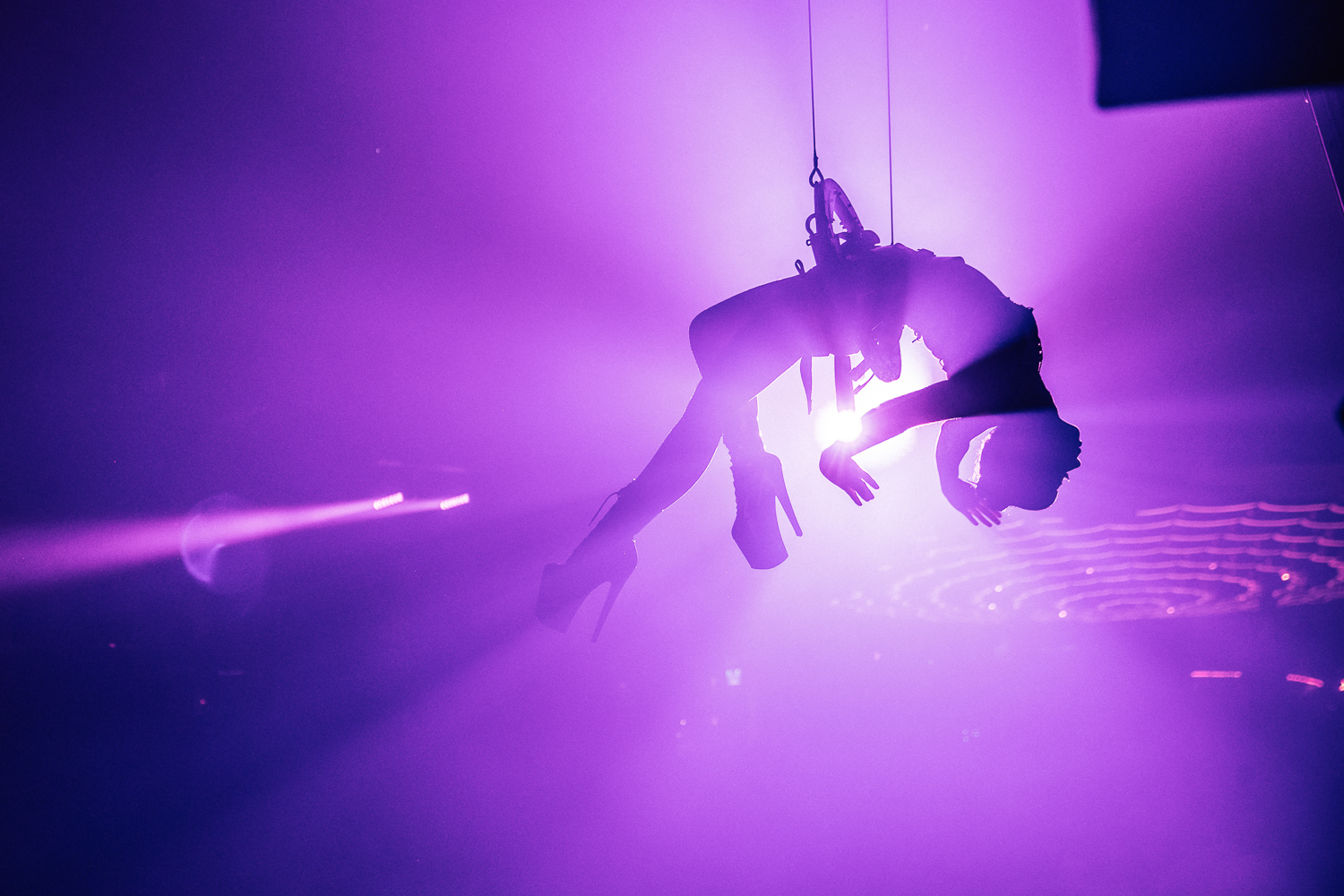 CLUB CHROMA at PARADISE CITY - In an aerial harness performance to accompany world renowned DJ, RL Grime