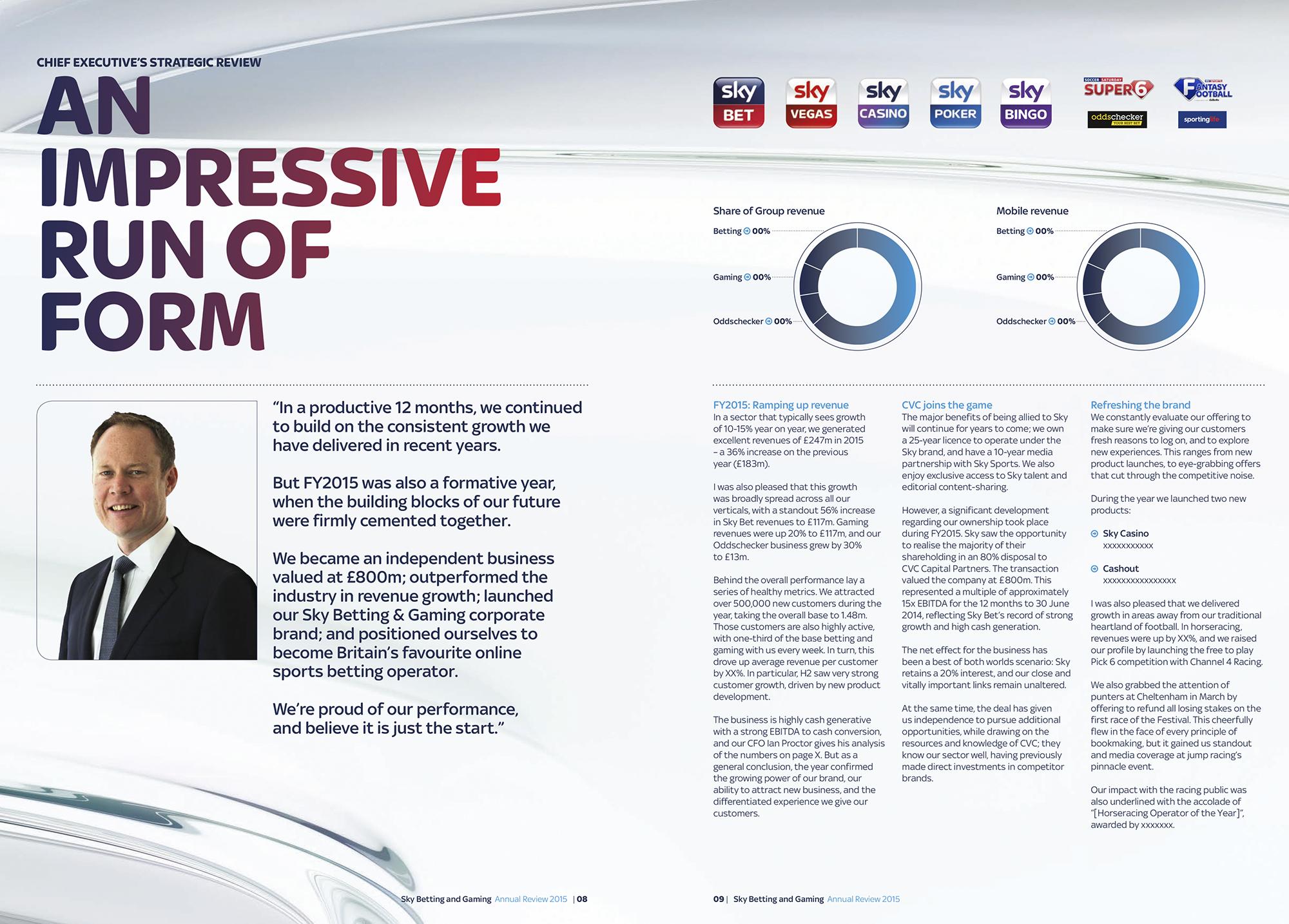 Emperor Design: Sky Bet Annual Review