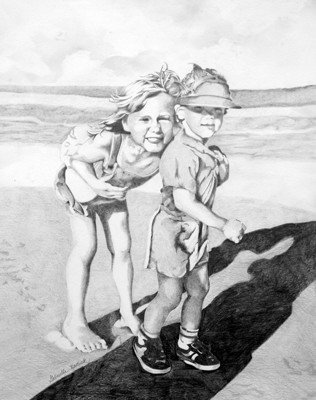 A Moment in Time - Graphite Drawing - SOLD