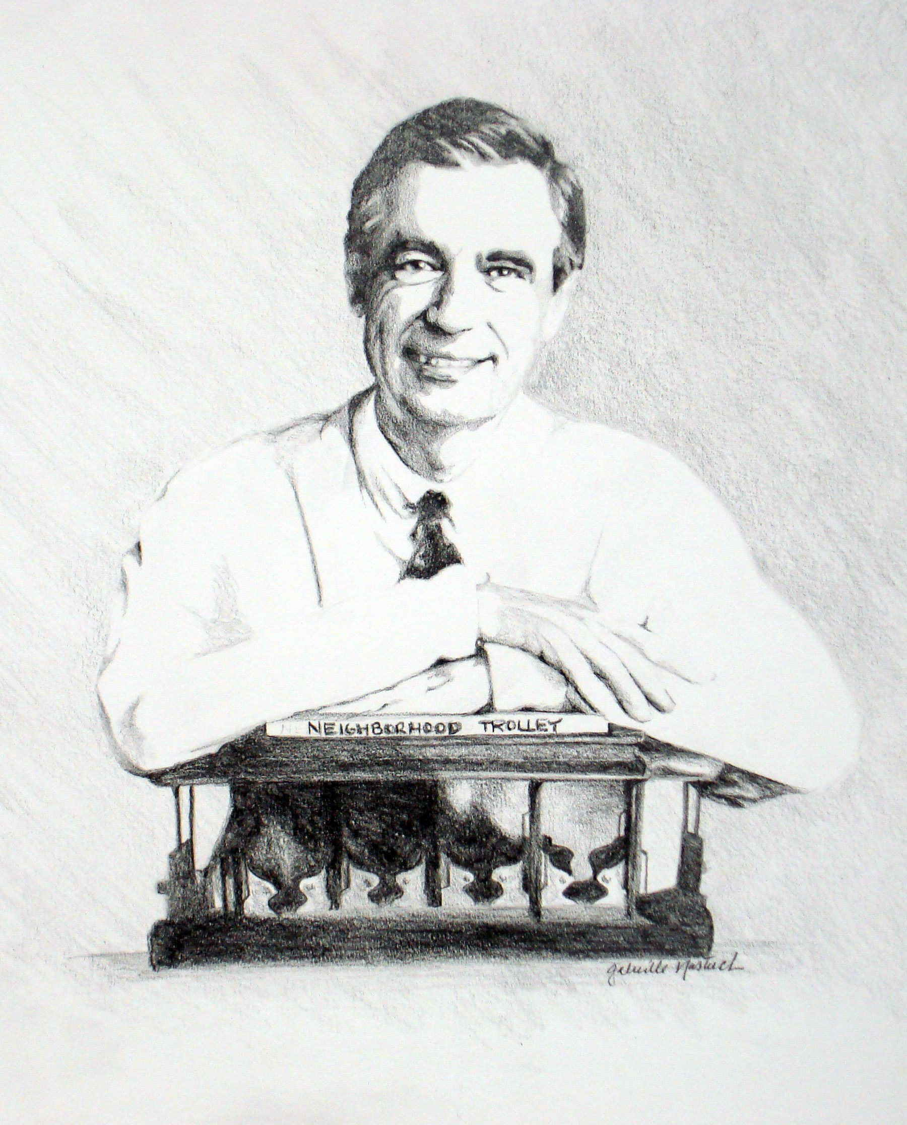 Mister Fred Rogers - Graphite Drawing - Hangs in the Fred Rogers Center