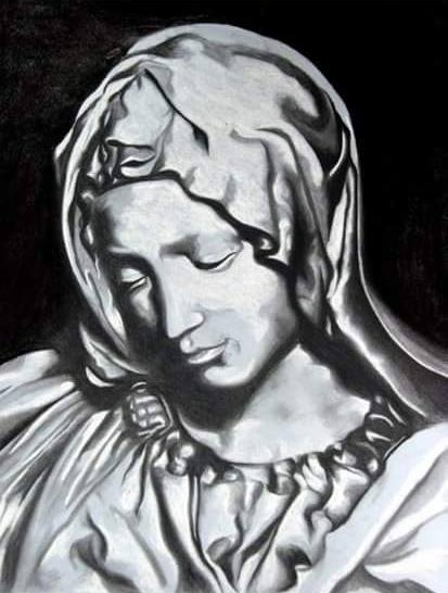 The Madonna - Pastel Drawing - SOLD