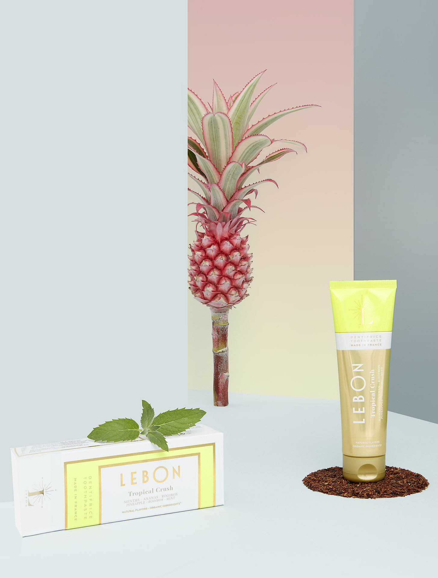 TROPICAL CRUSH - Glamorous time on the white sand, a gold flavor where pineapple is mixed with Rooibos and Mint.75 ML - 25 ML