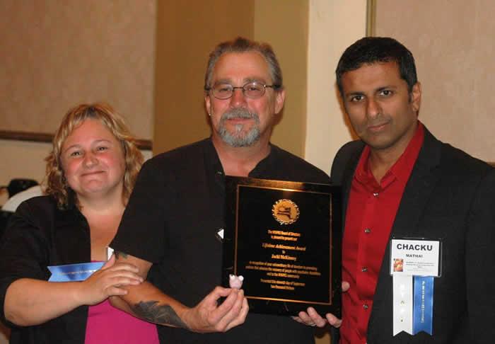 Bill Gamble, winner of the Faith & Fellowship Award