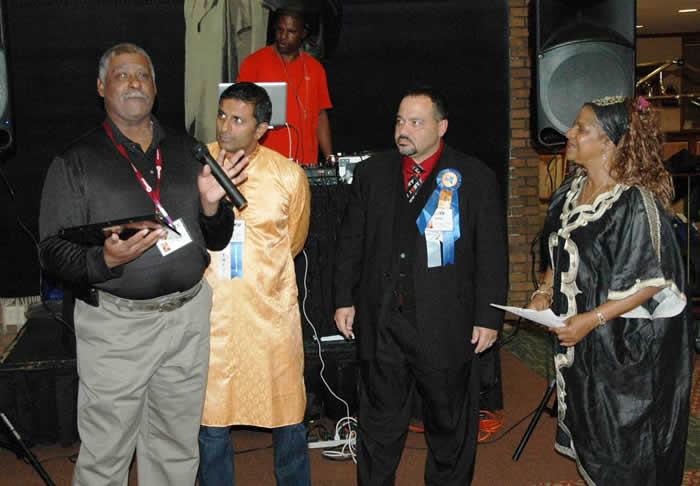 Ulysses Harrell receiving the Quincy Boykin Memorial Award