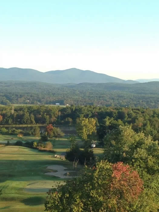 View of the beautiful Catskills from the Hudson Valley Resort