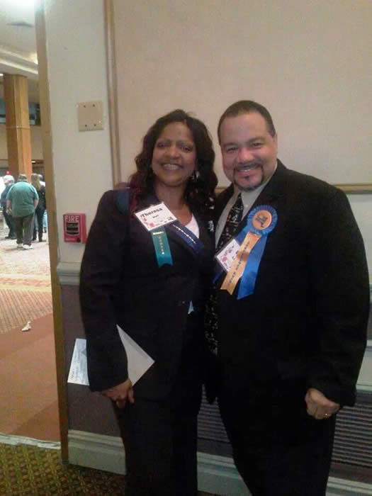 Theresa Hall and Luis Lopez, Co-Chairs of the Cultural Competence Commitee