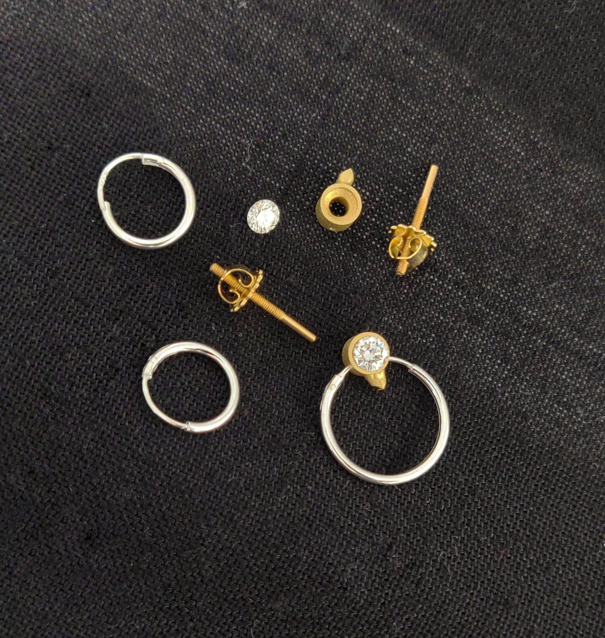 Making of Bespoke Diamond Earrings