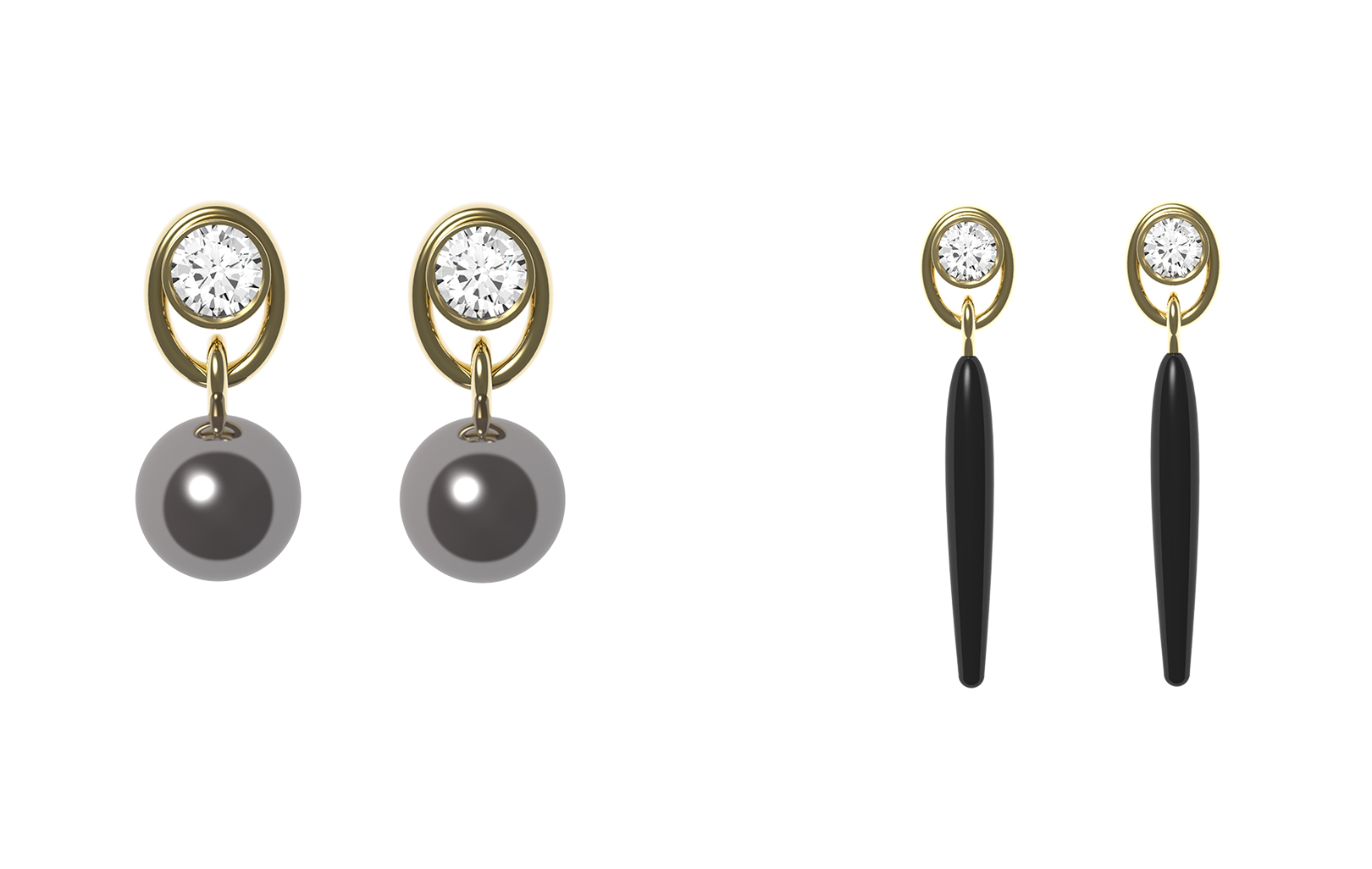Oval earrings accessory options