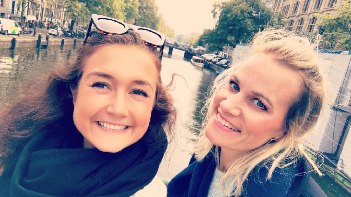 Meg og fineste Ester i Amsterdam!