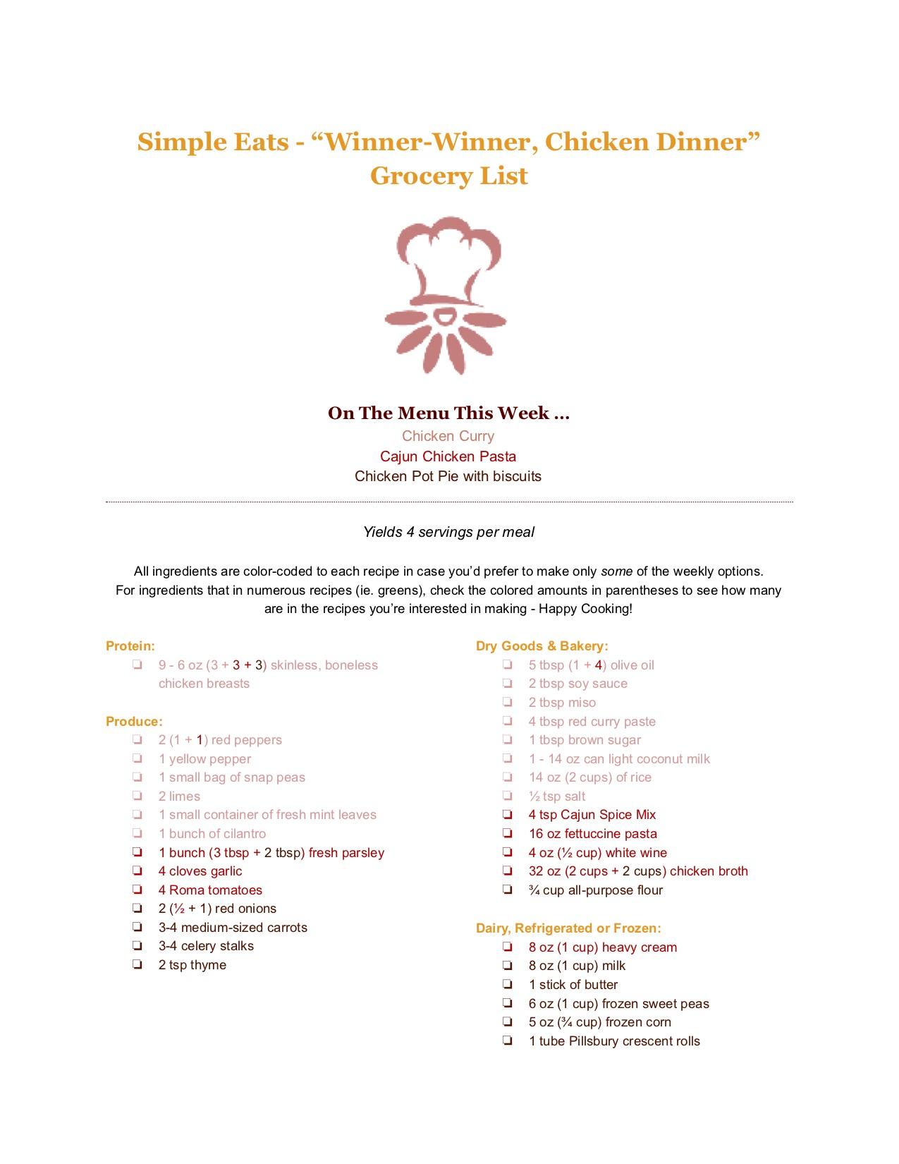 """""""Winner-Winner, Chicken Dinner"""" Grocery List.jpg"""
