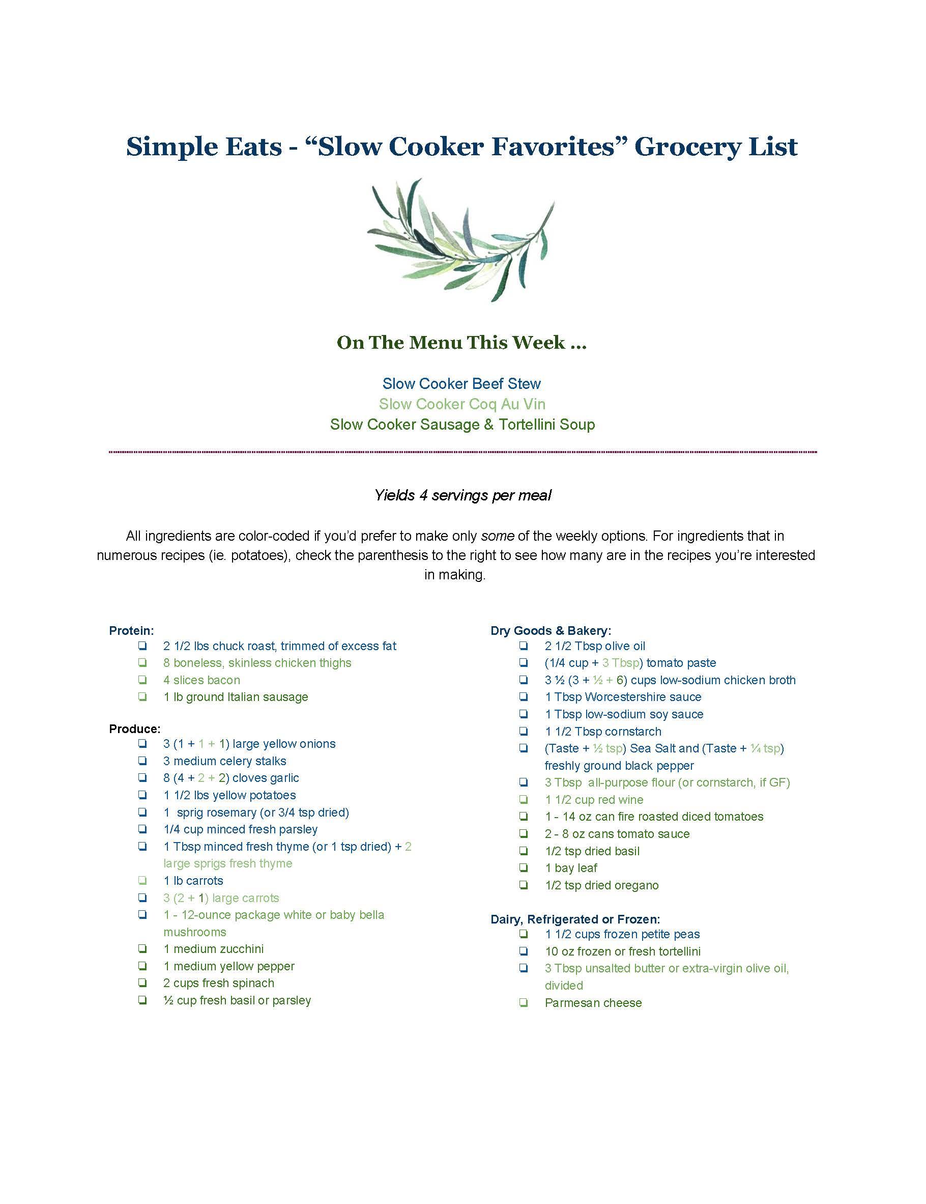 """Simple Eats - """"Slow Cooker Favorites"""" Grocery List.jpg"""