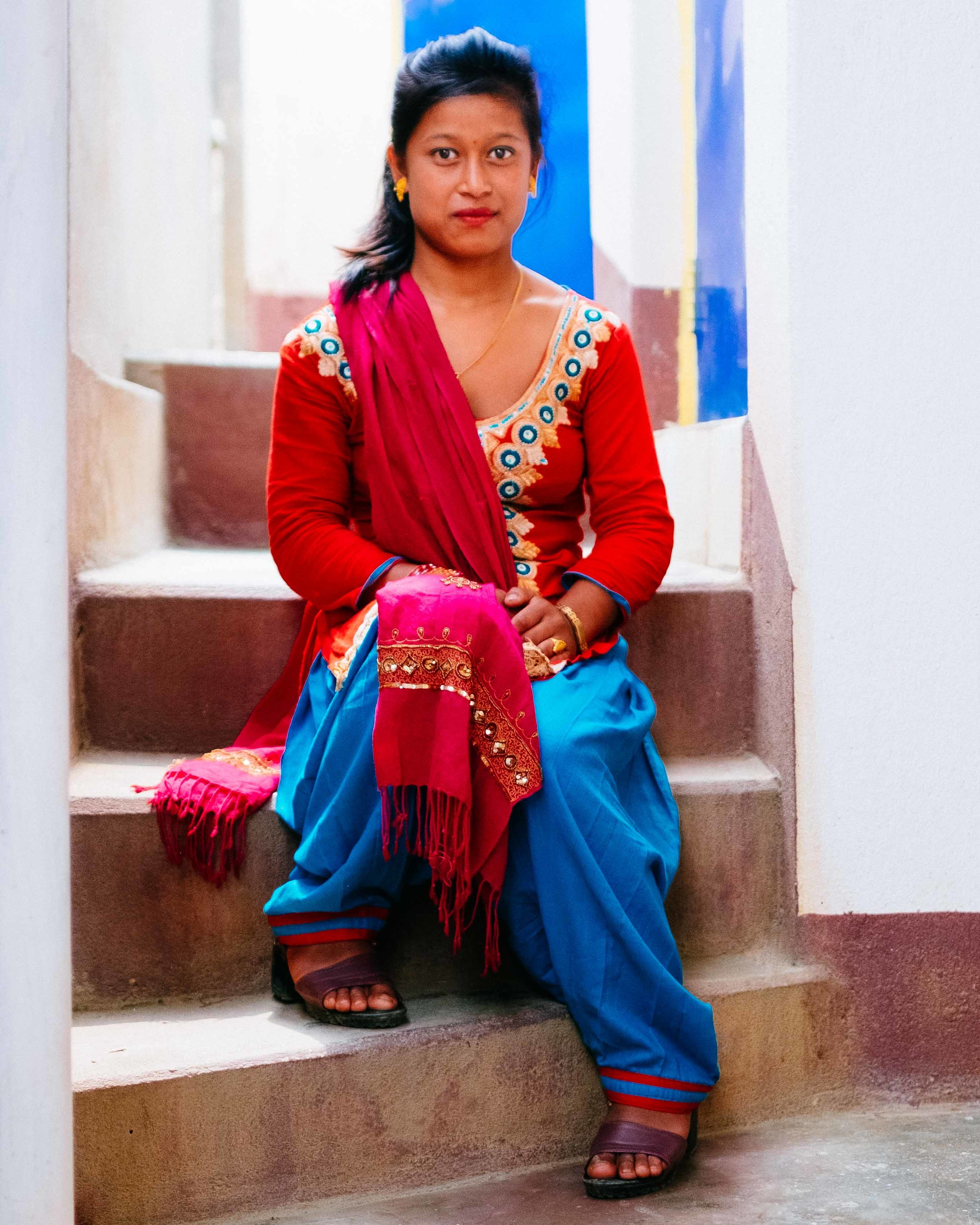 Jinsa, a Nepali trafficking victim that was rescued at the border of Nepal and India.