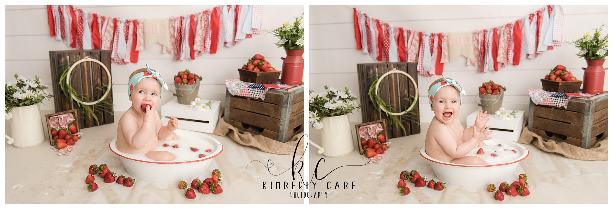 Greenville South Carolina one year session with cake smash