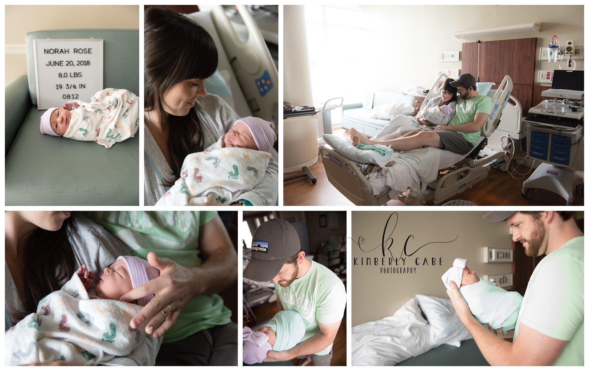 Greenville SC Fresh 48 hospital newborn session
