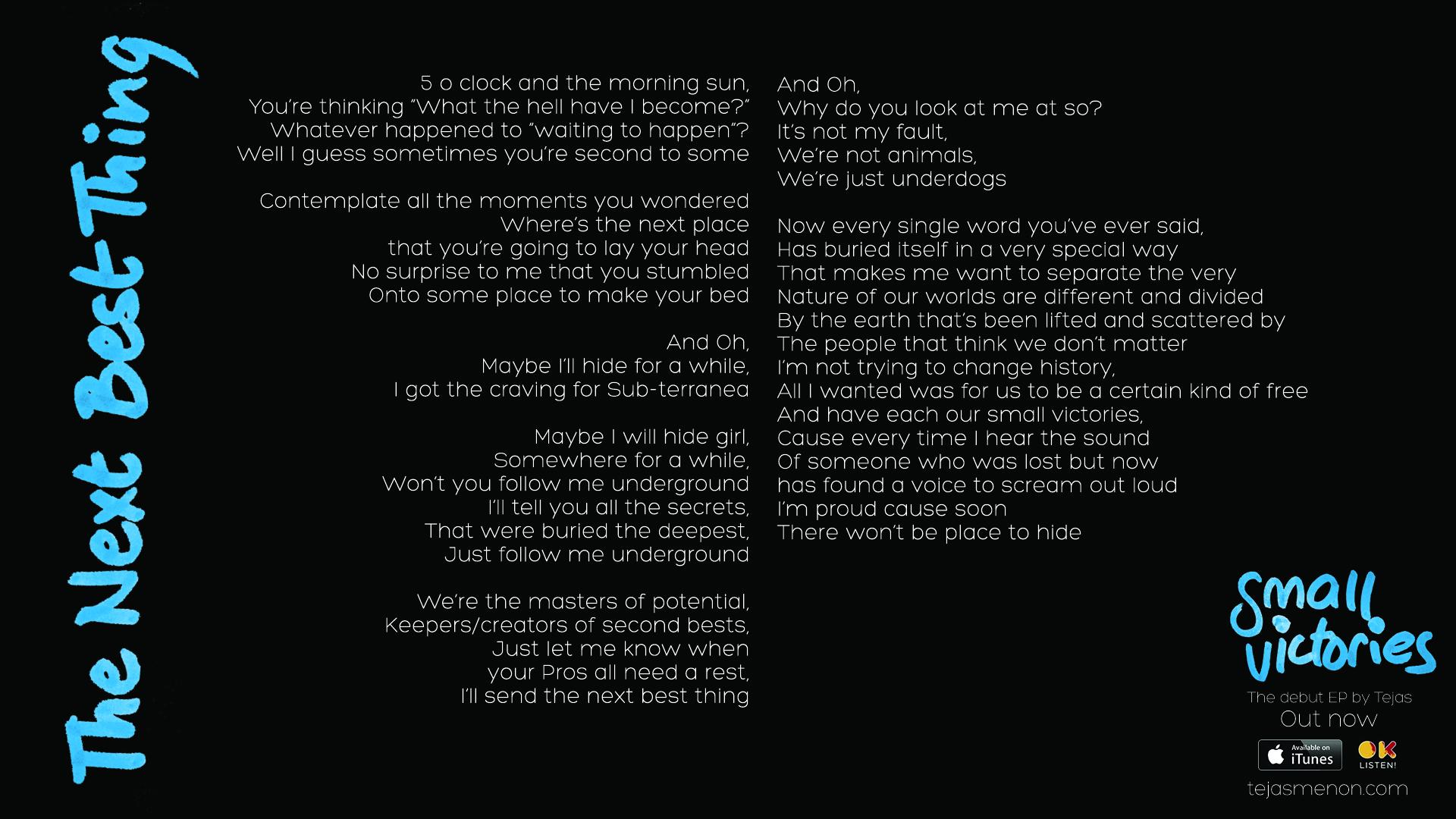 Lyrics - The Next Best Thing.jpg
