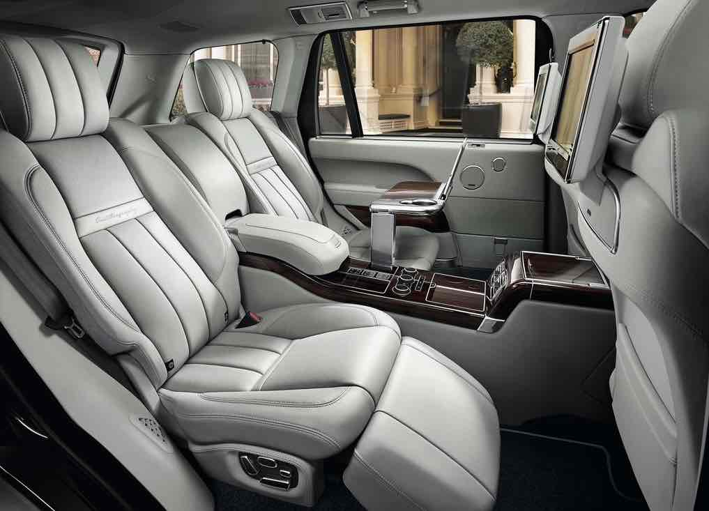 Reclining leather seats -