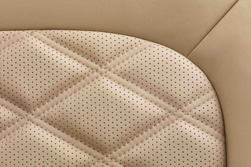 Hand-stitched leather -