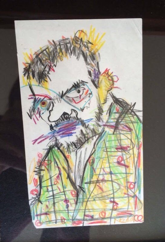A portrait of Paul Klee - Neda hopes to have this sketch hanging in a gallery in the Short North some day soon!