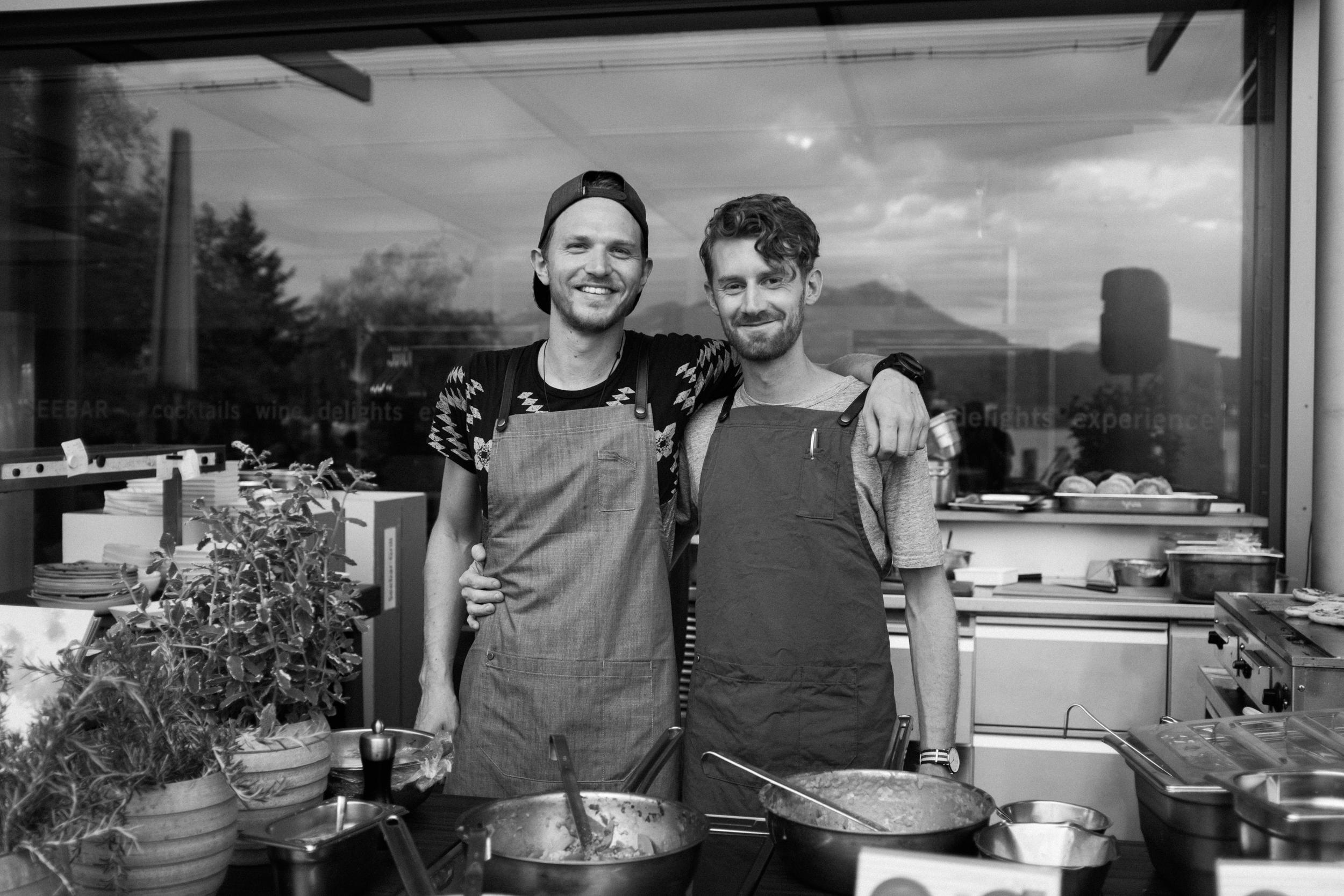 Yves und Iwan an der KKL-Seebar