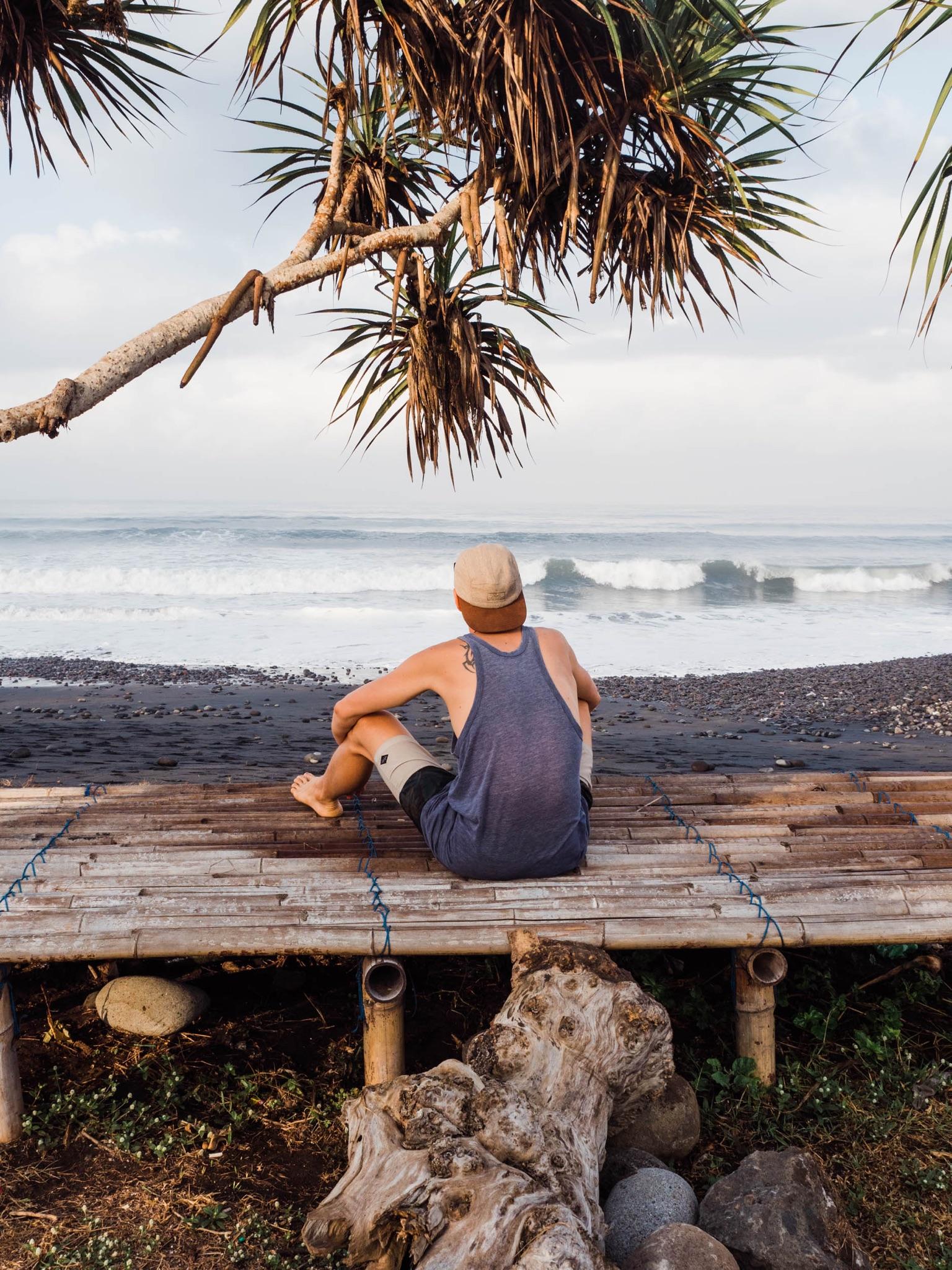 Yves am Strand in Bali