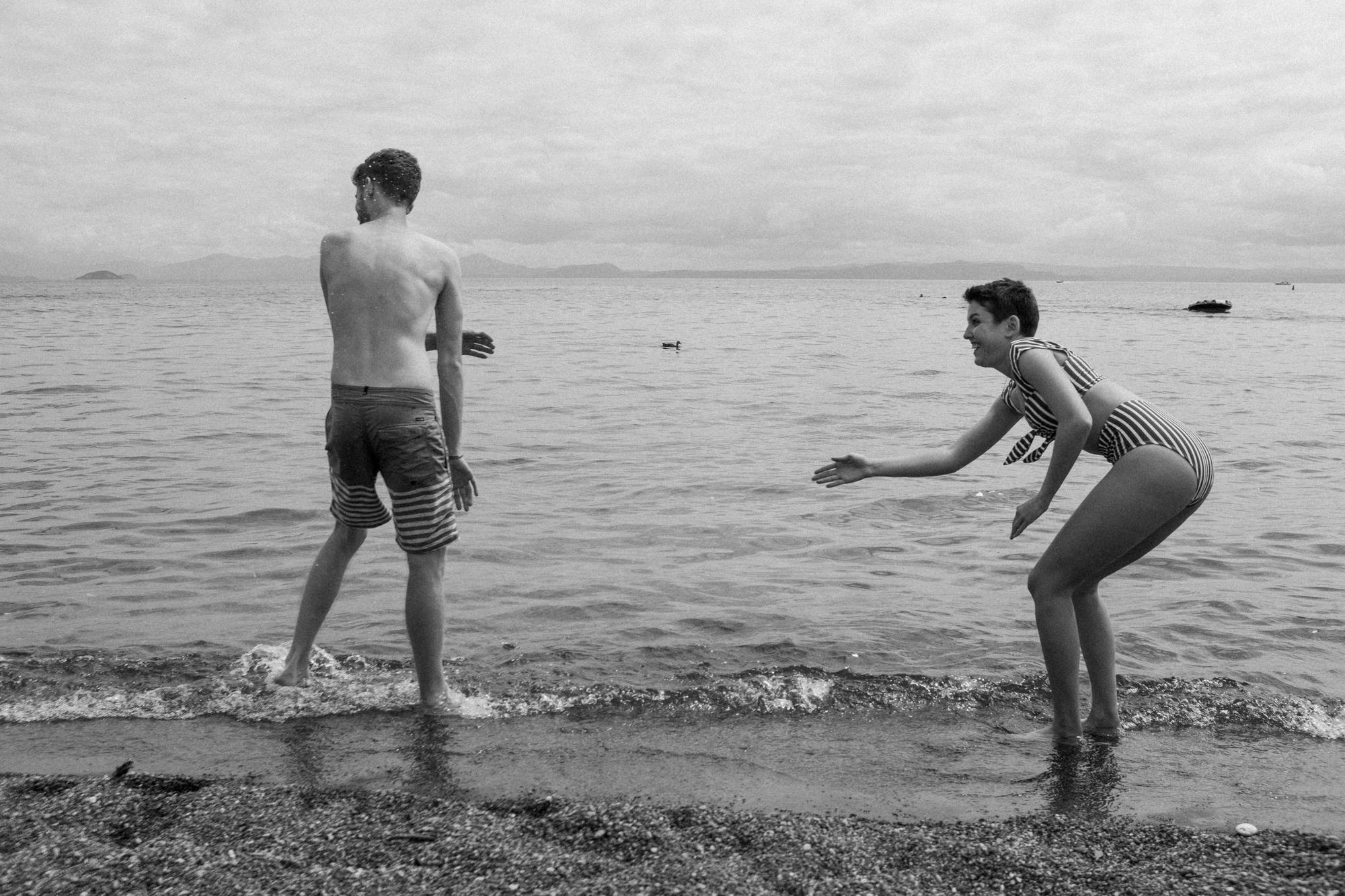 Iwan und Pascal am Lake Taupo