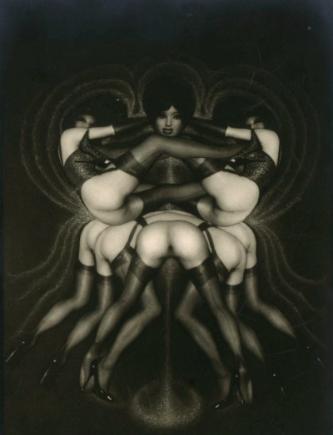 Sur le pavois, planche 26 du Chaman   Pierre Molinier (1968-70)  Hayward Gallery, Southbank, London